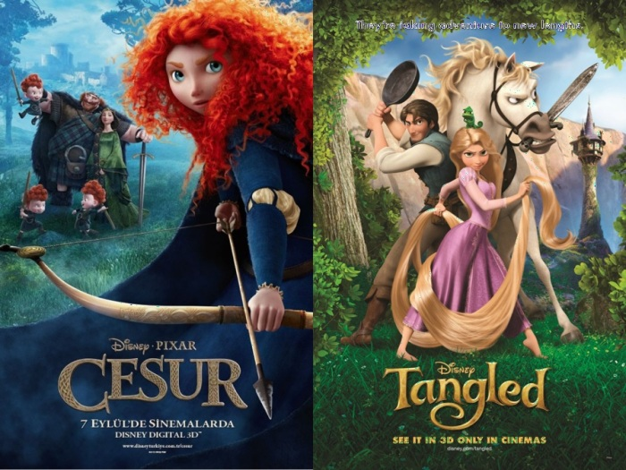 Tangled and Brave posters