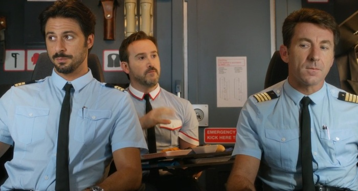 Pilot, Co-Pilot and the chief steward