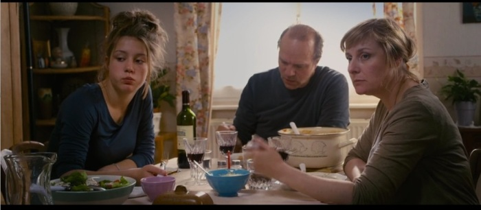 Adele and her family, eating spaghetti