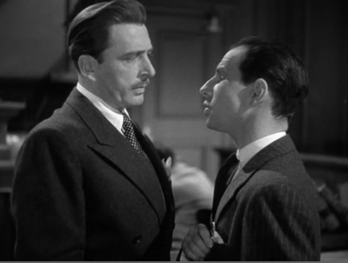 Leon Ames & Hume Cronyn, the courtroom face-off