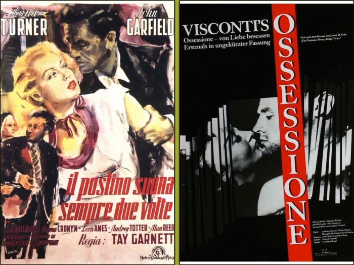 The Postman Always Rings Twice and Obsession poster