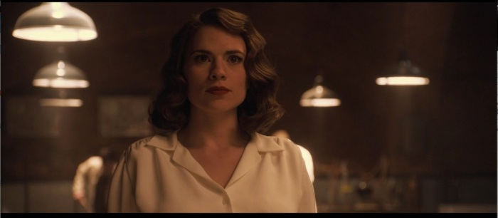 Hayley Atwell's red lip